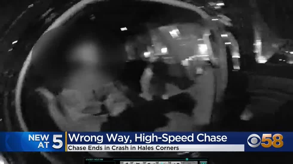 Wrong-way driver leads Greenfield police on high-speed chase